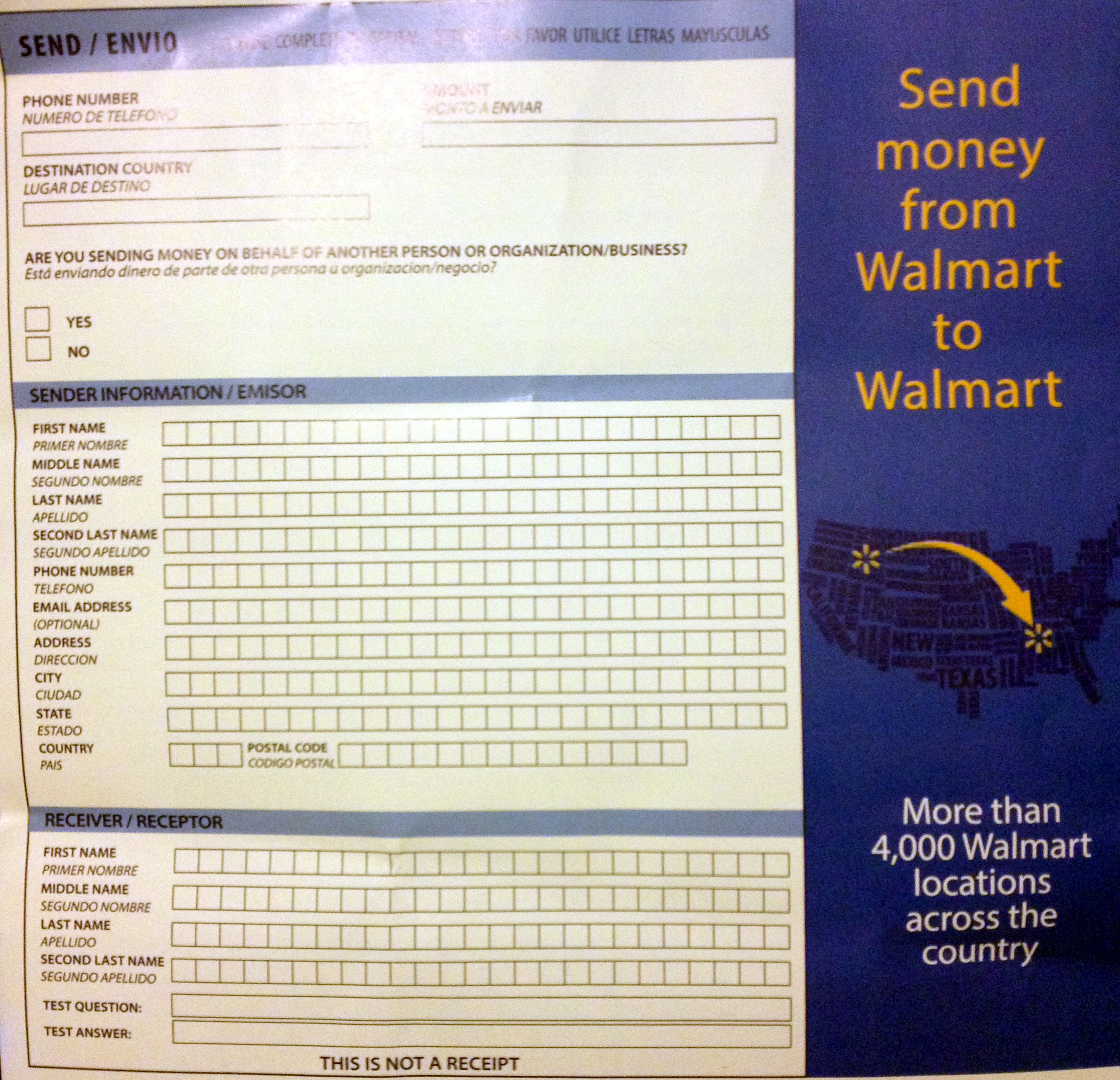 How much is it to send money at walmart - Cad b